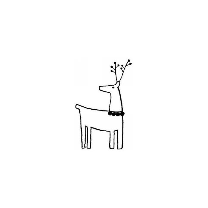 Rubberstamp - Deer 4.5x7cm