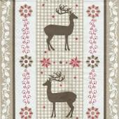 Napkin classic reindeer, 1 piece