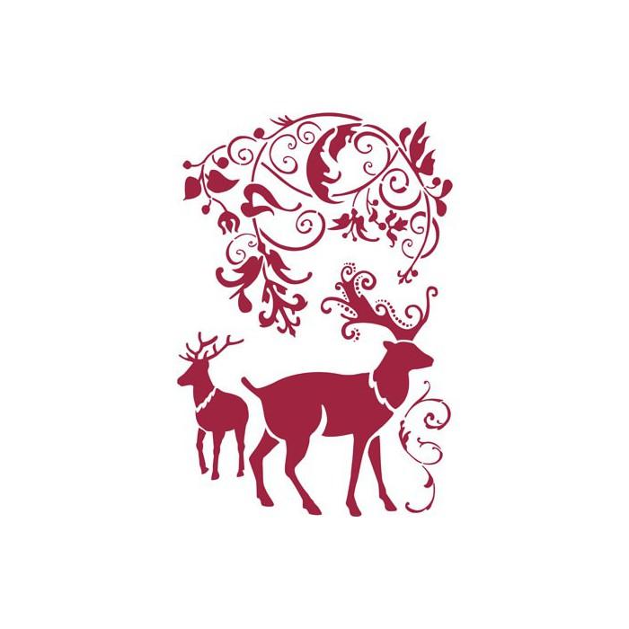 Stencil reindeer 44x30cm