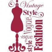 Pochoir Vintage Style 44x30cm