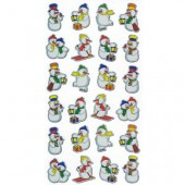 Stickers Snowmen, 1 sheet