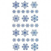 Stickers Snowflakes, 1 sheet