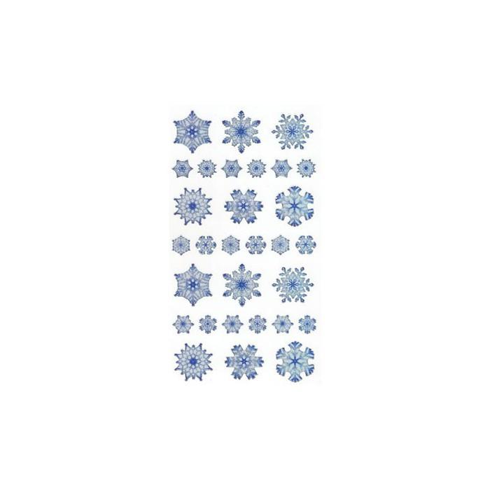 Stickers copos de nieve, 1 hoja - creaclic.ch