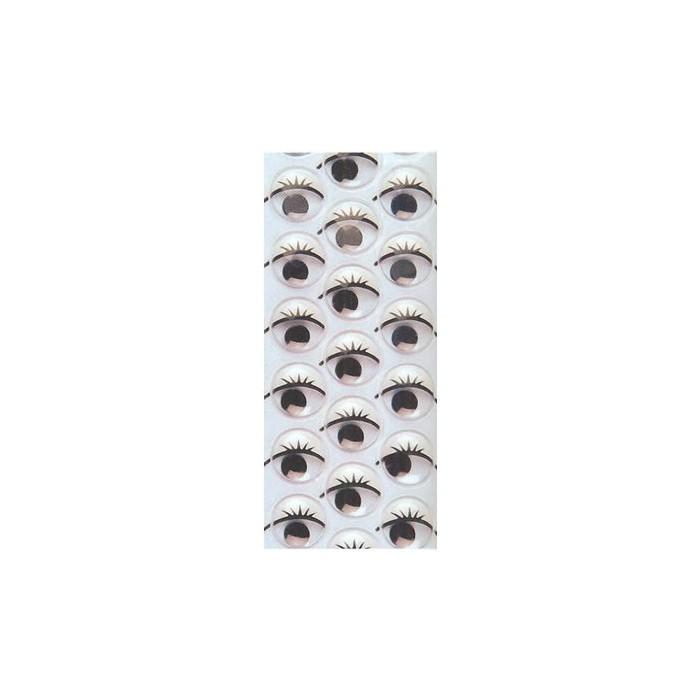 Joggle eyes, Ø10mm, 28 pces
