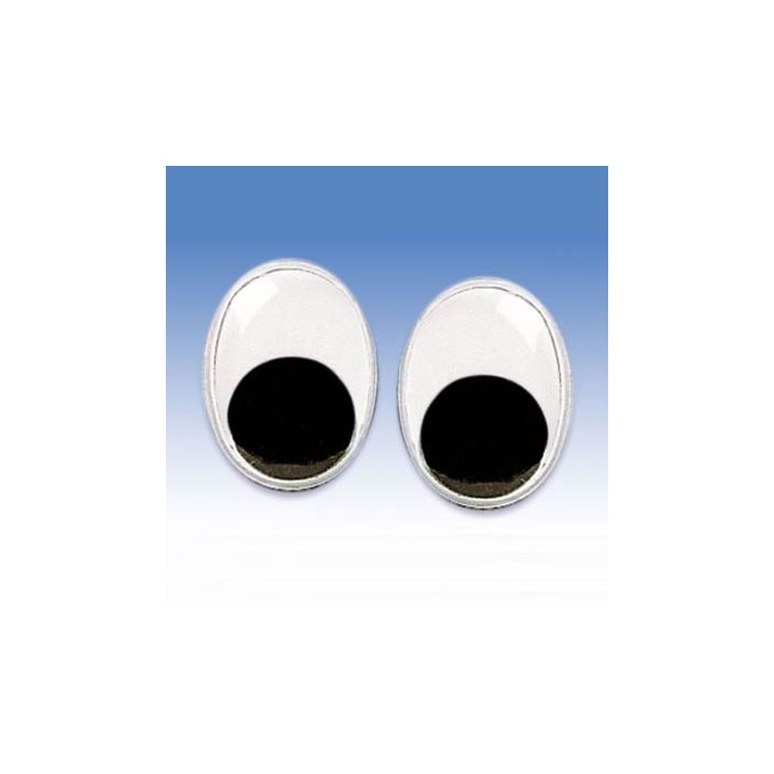 Joggle eyes, 7x10mm, 10 pces