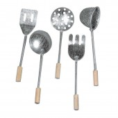 Metal kitchen utensils, 8cm, 5 pcs