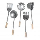 Ustensiles de cuisine en métal, 8cm, 5 pièces