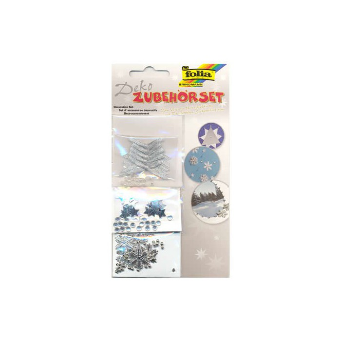 Decorative Accessoires stars and ribbons silver