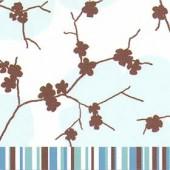 Serviette April Turquoise, 1 pièce