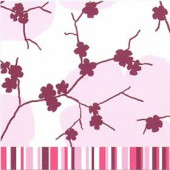 Serviette April Pink, 1 pièce