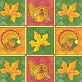 Serviette Autumn Patchwork, 1 pièce