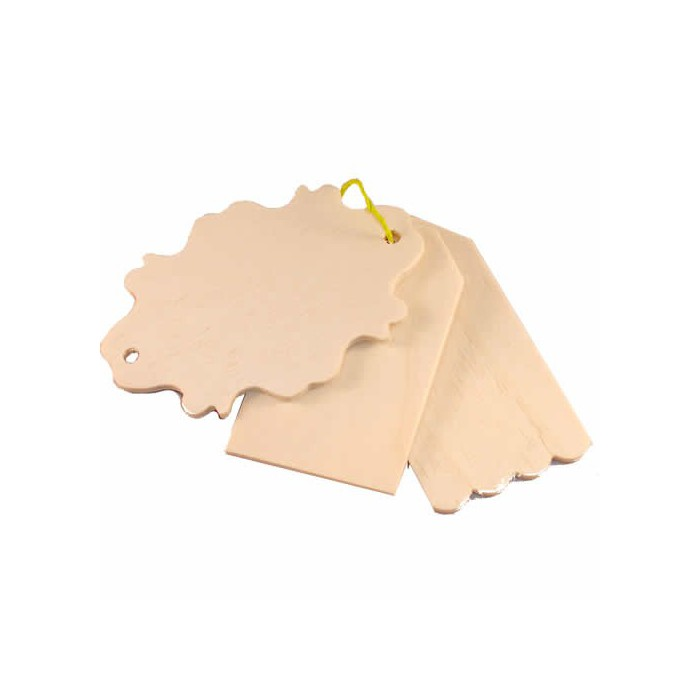 Pause Creative wooden tags, 3 pcs