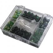 Kit perles fantaisie vert 170g