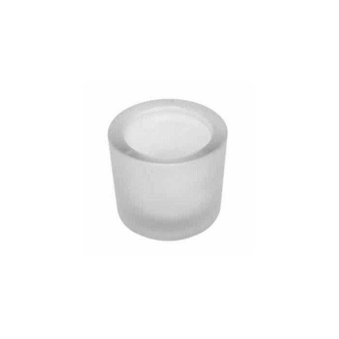 Candle jar frosted glass, Ø7cm