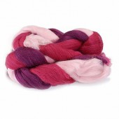 Sheep's wool, pink-mottled