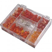 Fantasy beads orange 170g