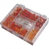 Kit perles fantaisie orange 170g