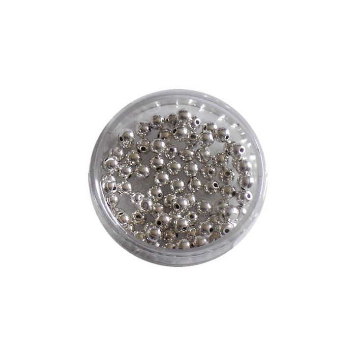 Metal pearls silver 8mm/80pcs