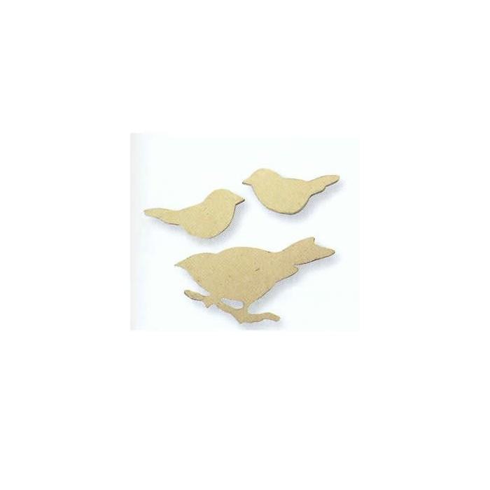 Cardboard Birds 6-10cm