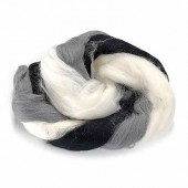 Sheep's wool, black-white
