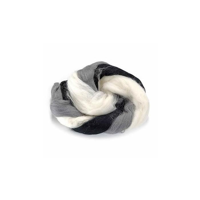 Sheep's wool, black-white