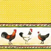 Serviette Chicken Parade, 1 pce