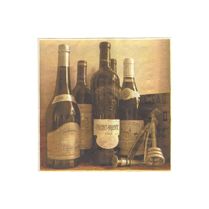 Napkin  Wine Bottles, 1 piece