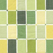 Napkin big green squares, 1 pce