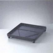 Sous-pot en métal noir 20x20x3.3cm