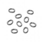 Oval rings 6mm, platinum, 20 pces