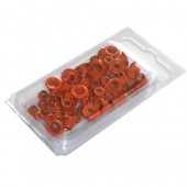 Oeillets ronds, 4+8mm, 75 pièces, orange