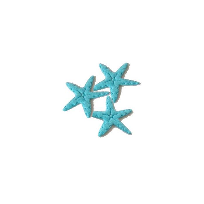 Sea stars, blue felt