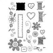 Clear stamps, Sewing
