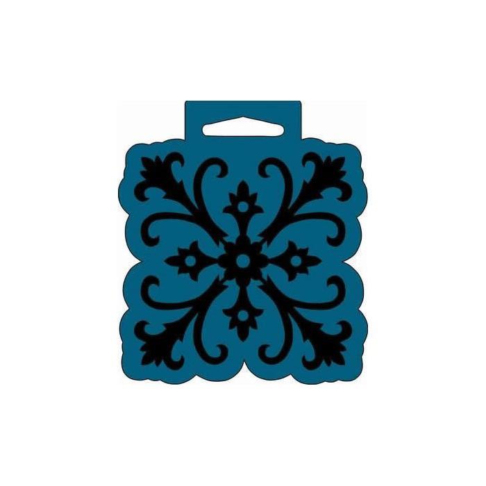 Big Foam Stamp, ornament lily 10x11.7cm
