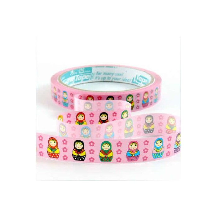 Deco Tape Matriochka pink