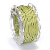 Waxed cord, Ø1mm- 5m, green