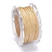 Waxed cord, Ø1mm- 5m, natural