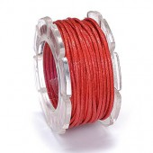 Waxed cord, Ø1mm- 5m, red