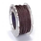 Waxed cord, Ø1mm- 5m, brown