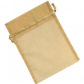 Pochette cadeau organza 12x17cm, or
