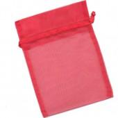 Pochette cadeau organza 12x17cm, rouge