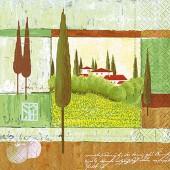 Napkin Mediterraean scene, 1 piece