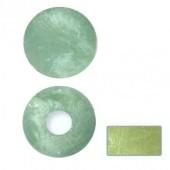 Eléments en nacre, rond, vert clair