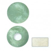 Mother-of-pearl element, circle, white