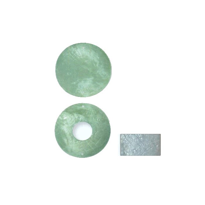 Mother-of-pearl element, circle, light blue