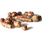 Assortiment de perles en bois Indio, +/- 60pcs