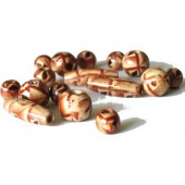 Indo wooden beads mix, +/- 60pcs