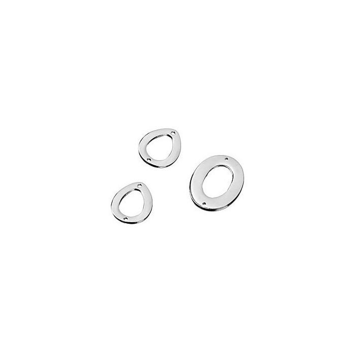 Metal parts mix, oval, 3 pcs