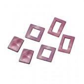 Elements en nacre, rectangles violet, 6 pcs