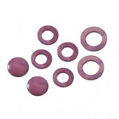 Shelll parts, circle purple, 8 pcs